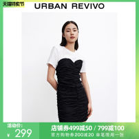 Dress Summer 2021 It's black S XL XS L M Middle-skirt 25-29 years old UR WG12SBGN2003 More than 95% cotton Cotton 100% Same model in shopping mall (sold online and offline)