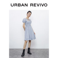 Dress Summer 2020 Black gray check S XL L M XXL longuette 25-29 years old UR 1YU16S7AN2005 51% (inclusive) - 70% (inclusive) cotton Cotton 57% polyester 43% Same model in shopping mall (sold online and offline)