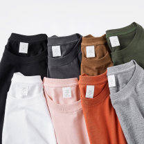 T-shirt F520N20 25-29 years old cotton 96% and above Short sleeve Summer 2020 Regular payment Crew neck easy routine commute Solid color Fu Hou Cotton 100% classic Korean version Exclusive payment of tmall Pink coffee hemp grey smoke grey brick red white black army green XS S M L XL 2XL 3XL 4XL