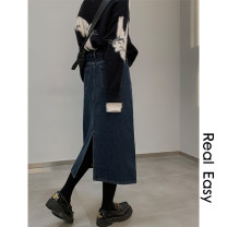 skirt Winter 2020 S,M,L,XL Denim blue, wash black, denim blue regular, wash black regular Mid length dress commute Natural waist Type A 18-24 years old 20.11.11 More than 95% Denim Other / other cotton Korean version 101g / m ^ 2 (including) - 120g / m ^ 2 (including)