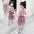 Dress Purple Pink Blue female Holy Land Anna 110cm 120cm 130cm 140cm 150cm 160cm Other 100% summer Korean version Short sleeve Cartoon animation other A-line skirt KXXB-FG3001 Summer 2020