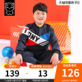 suit Tony the pig Color matching sports suit Navy 140cm 150cm 160cm 170cm 180cm 190cm male spring and autumn leisure time Long sleeve + pants 2 pieces routine There are models in the real shooting Socket nothing other Cotton blended fabric children Giving presents at school N11TZ226N Class B