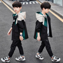 Plain coat Winnie brothers male 110cm 120cm 130cm 140cm 150cm 160cm 170cm spring and autumn leisure time Zipper shirt There are models in the real shooting routine No detachable cap Cartoon animation other Other 100% Spring 2021