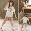 T-shirt Beige Pink Pikapika 120cm 130cm 140cm 150cm 160cm 170cm female summer Short sleeve Crew neck leisure time There are models in the real shooting nothing cotton Cartoon animation Cotton 99% other 1% PKX21077 Summer 2021 Chinese Mainland