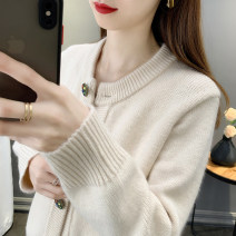 Wool knitwear Spring 2021 S M L XL Beige blue red Long sleeves singleton  Cardigan other More than 95% Regular routine commute easy Low crew neck routine Solid color Single breasted Simplicity MDR21A2646 25-29 years old Meidor / Meiduo Other 100% Exclusive payment of tmall