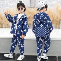 suit blue 110cm,120cm,130cm,140cm,150cm,160cm male spring and autumn motion Long sleeve + pants 2 pieces routine There are models in the real shooting Zipper shirt No detachable cap other other children Learning reward Class B Other 100% Chinese Mainland Zhejiang Province