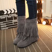 Boots 40 yards and above three days delivery is one yard smaller, take one yard larger 34 35 36 37 38 39 40 41 42 43 PU Other / other Middle heel (3-5cm) Internal elevation PU Middle cylinder Round head Artificial short plush Artificial short plush Autumn 2016 Sleeve leisure time rubber Solid color