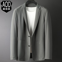 man 's suit Black grey green AOD / otimo Fashion City thin 170/M 175/L 180/XL 185/2XL 190/3XL LHW-AOD-208805 Polyamide fiber (nylon) 75% polyurethane elastic fiber (spandex) 25% Winter 2020 standard Double breasted Other leisure No slits middle age Long sleeves spring routine Business Casual nylon