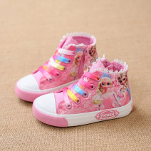 canvas shoe Female, male, neutral aibici Blue, pink, rose canvas Side zipper spring and autumn Natural rubber Sewing Gao Bang Cartoon animation Princess, simple, comfortable children Others