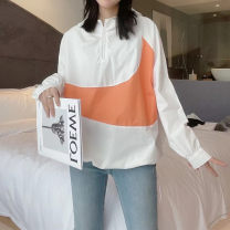 short coat Spring 2021 Average size Orange, green, black Long sleeves routine Thin money easy commute Bat sleeve Hood zipper shape 25-29 years old 91% (inclusive) - 95% (inclusive) cotton polyester fiber