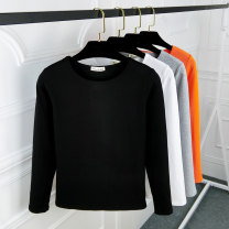 T-shirt Black, white, gray, orange, rose, pink M. L, XL, 2XL, pay attention to the store and give small gifts Spring of 2019 Long sleeves Crew neck Self cultivation Regular routine commute cotton 86% (inclusive) -95% (inclusive) 25-29 years old Korean version youth Solid color Hani tide 865 solid L