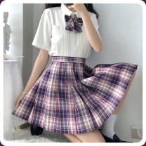 skirt Autumn 2020 XS,S,M,L,XL Plum jam 42cm, plum jam 45cm Short skirt Natural waist Plum jam plaid skirt Thorn