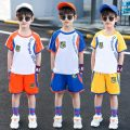 suit Other / other Blue, orange, yellow 110cm,120cm,130cm,140cm,150cm,160cm male summer leisure time Short sleeve + pants 2 pieces Thin money There are models in the real shooting Socket nothing other chemical fiber elder Giving presents at school Class B 2, 3, 4, 5, 6, 7, 8, 9, 10, 11, 12 years old