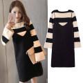 Dress Other / other Strap skirt + striped top, strap + Top + black leggings M,L,XL,XXL Korean version Long sleeves Medium length spring Crew neck stripe