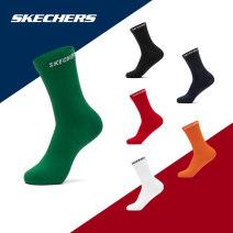 Sports socks 00hu / red / White / black 00vs / Green / Navy / black 00lf / orange / White / Navy 00yq / red / orange / black 0019 / bright white 002k / dark black SKECHERS / SKECHERS 24-26 CM male Middle cylinder Summer 2020 L320M140 yes