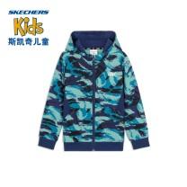 Plain coat SKECHERS / SKECHERS male 110cm 120cm 130cm 140cm 150cm 160cm spring and autumn leisure time Zipper shirt No detachable cap Cotton 55% polyester 45% Class B Winter 2020