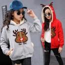 Plain coat Fruit rice Tang er female 120cm,130cm,140cm,150cm,160cm Red, pink, grey winter Korean version Zipper shirt There are models in the real shooting Plush No detachable cap Cartoon animation Pure cotton (100% cotton content) other Q4554 Other 100% Class B