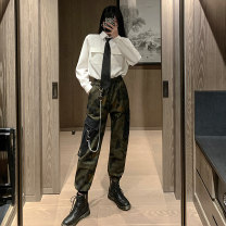 Fashion suit Autumn 2020 S,M,L,XL White shirt (for tie), camouflage pants (for chain), white shirt + camouflage pants (for tie chain) 18-25 years old 81% (inclusive) - 90% (inclusive)