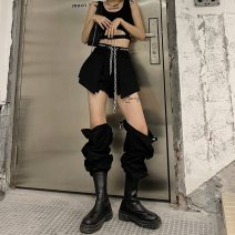 Casual pants Black vest, black pants (chain), Black Vest + black pants (chain) S,M,L Spring 2021 trousers Overalls High waist street routine 18-24 years old 81% (inclusive) - 90% (inclusive) other chain Hip hop