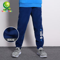 trousers male 90cm 100cm 110cm 120cm 130cm 140cm 150cm 160cm winter trousers leisure time Official pictures Casual pants Leather belt middle-waisted other Don't open the crotch Polyester 100% Class A Winter of 2018