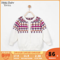 Sweater / sweater 80cm 90cm 100cm 110cm 120cm 130cm cotton female Benbai Sikki baby ethnic style Single breasted routine Crew neck nothing Ordinary wool other Class A Winter of 2019 spring and autumn Six months 12 months 9 months 18 months 2 years 3 years 4 years 5 years 6 years Chinese Mainland