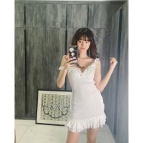 Dress Spring 2020 white S,M,L Short skirt singleton  Sleeveless commute V-neck High waist Socket 25-29 years old shirleydogg Korean version Q203810