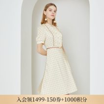 Dress Spring 2021 Beige 165 155 160 170 175 Mid length dress Short sleeve commute Crew neck Dot other other routine Others 30-34 years old Type X SCOFIELD Britain SFOWB2420Q-549430 More than 95% polyester fiber Polyester 100% Same model in shopping mall (sold online and offline)