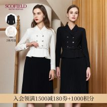 Dress Winter 2020 Black ice cream B grey 165 155 160 170 175 Mid length dress Long sleeves commute V-neck middle-waisted Solid color 30-34 years old SCOFIELD SFOWA4908Q 71% (inclusive) - 80% (inclusive) polyester fiber Polyester 76% viscose 18% polyurethane 6%