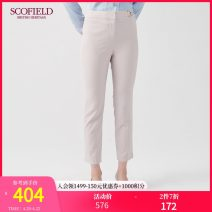 Casual pants light gray 155 160 165 170 175 Winter of 2019 trousers Straight pants Natural waist routine SCOFIELD Polyester 96% polyurethane elastic fiber (spandex) 4% Same model in shopping mall (sold online and offline)
