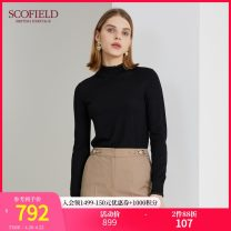 sweater Spring 2021 165 155 160 170 175 BEIGE BLACK BLUE Long sleeves Socket singleton  Regular other 95% and above other Regular commute routine Solid color Self cultivation Regular wool SCOFIELD SFKWB1202Q Other 100% Same model in shopping mall (sold online and offline)