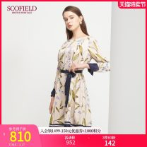 Dress Autumn 2020 Beige 155 160 170 175 165 Mid length dress 30-34 years old SCOFIELD SFOWA8906Q More than 95% other Viscose (viscose) 100% Same model in shopping mall (sold online and offline)