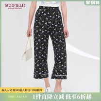 Casual pants black 155 160 165 170 175 Summer of 2019 trousers Straight pants Natural waist 30-34 years old SCOFIELD silk Mulberry silk 100% Same model in shopping mall (sold online and offline)