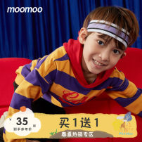 Sweater / sweater Moomoo Yellow purple broad stripe group blue green wide stripe group red white wide stripe group male 110/52 110/56 120/60 130/64 140/68 150/72 160/80 spring and autumn No detachable cap leisure time Socket routine cotton other Cotton 100% Class B Autumn of 2019