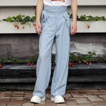 Casual pants Valley boy Fashion City blue S,M,L,XL routine trousers Other leisure easy Wild mountain trousers spring youth Japanese Retro 2020 Medium high waist Straight cylinder Polyester fiber 70% viscose fiber (viscose fiber) 25% polyurethane elastic fiber (spandex) 5% Overalls Original designer