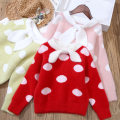 Sweater / sweater 100cm,110cm,120cm,130cm,140cm,150cm other female Red, pink, light green Other / other Korean version No model Socket routine Crew neck nothing Ordinary wool Dot Other 100% 191019-5 18 months, 2 years old, 3 years old, 4 years old, 5 years old, 6 years old, 7 years old