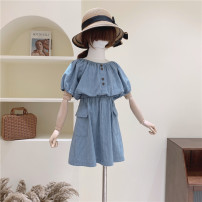 suit Other / other Blue Plaid suit 110cm / tag 110120cm / tag 120130cm / tag 130140cm / tag 140150cm / tag 150160cm / tag 160 female summer college Short sleeve + skirt 2 pieces Thin money There are models in the real shooting Socket nothing lattice cotton children Expression of love other Other 100%