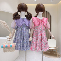Dress Pink flowers, blue and purple flowers female Other / other 110cm / tag 110120cm / tag 120130cm / tag 130140cm / tag 140150cm / tag 150 Other 100% summer Forest Department Short sleeve Broken flowers other A-line skirt other Three, four, five, six, seven, eight, nine, ten, eleven, twelve