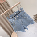 trousers Other / other female 100cm / tag 5110cm / tag 7120cm / tag 9130cm / tag 11140cm / tag 13150cm / tag 15 One piece denim shorts summer shorts Europe and America No model Jeans Leather belt High waist other Don't open the crotch Other 100% other N1711 Chinese Mainland