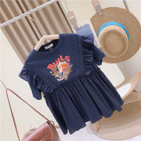 Dress One piece dress female Other / other 110cm / tag 110120cm / tag 120130cm / tag 130140cm / tag 140150cm / tag 150160cm / tag 160 Other 100% summer Europe and America Short sleeve Cartoon animation other A-line skirt other Chinese Mainland