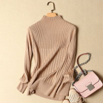 sweater Winter of 2018 S M L XL Long sleeves Socket singleton  Regular other 95% and above Half high collar Regular commute routine Solid color Self cultivation Regular wool Keep warm and warm 25-29 years old Love Princess Show Other 100% Pure e-commerce (online only)