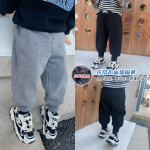 trousers Other / other neutral 80cm,90cm,100cm,110cm,120cm,130cm Gray, black winter trousers leisure time There are models in the real shooting Plush trousers Leather belt middle-waisted cotton Open crotch Cotton 90% other 10% Small standard double layer Plush casual pants