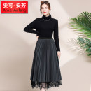 skirt Winter 2020 160/M/9 165/L/11 170/XL/13 175/XXL/15 Grey brown Mid length dress Natural waist A05Q535 Anke Anfang