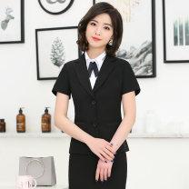 Hotel uniform Summer of 2019 Black dress S M L XL XXL XXXL Jin Weile Polyester fiber 90% polyurethane elastic fiber (spandex) 10% Pure e-commerce (online only)