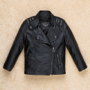 Jacket / leather Other / other neutral 35 black single leather 105cm (100cm for tag 3-4), 110cm (110cm for tag 4-5), 120cm (120cm for tag 5-6), 130cm (130cm for tag 7-8), 140cm (140cm for tag 9-10), 150cm (150cm for tag 11-12), 160cm (160cm for tag 13-14) PU leather Korean version spring and autumn