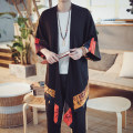 Windbreaker Others Youth fashion M,L,XL,2XL,3XL,4XL No buckle Medium length easy Other leisure spring teenagers other Chinese style Viscose (viscose) 79.9% flax 20.1% Plants and flowers No iron treatment Save pocket Cotton and hemp Color matching hemp Less than 30%