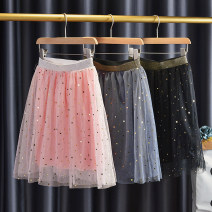 skirt 90cm,100cm,110cm,120cm,130cm,140cm,150cm Black, gray, pink, white, black, pink, white, black Other / other female Other 100% No season skirt lady geometry Cake skirt polyester
