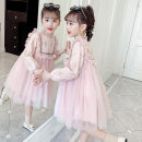 Dress Pink, light green female Other / other 110cm,120cm,130cm,140cm,150cm,160cm Polyester 100% spring Korean version Long sleeves other blending Princess Dress Class B Six, seven, eight, nine, ten, eleven, twelve Chinese Mainland Zhejiang Province