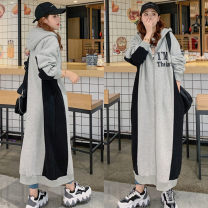 Sweater / sweater Spring 2021 grey M L XL XXL Long sleeves have more cash than can be accounted for Cardigan singleton  Plush Hood easy commute routine letter 25-29 years old 51% (inclusive) - 70% (inclusive) Highlight Charm Korean version polyester fiber Polyester 65% cotton 35% zipper