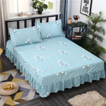 Bed skirt [single bed skirt] 120x200cm [single bed skirt] 150x200cm [single bed skirt] 180x220cm [single bed skirt] 200x220cm polyester fiber Zhuoer (home textile) Plants and flowers Qualified products 1508NSSW-DLNJ002