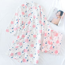 Nightgown / bathrobe Other / other female M, L Thin money Sweet cotton summer More than 95% Medium length (knee to Mid Calf) Plants and flowers youth printing